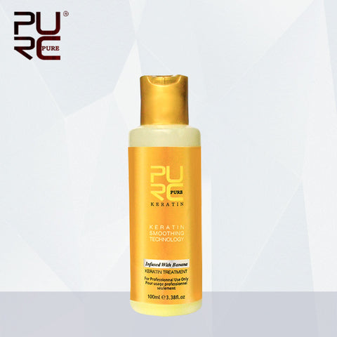 Purc 12% 100Ml Banana Flavor Brazilian Keratin Treatment For Straightening Hair & Repairing Damaged Frizzy Hair