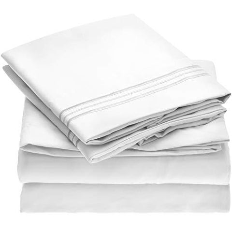 3-Piece Stain Resistant Bed Sheet Set
