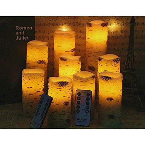 9PCS Flameless Battery Operated Candle Set