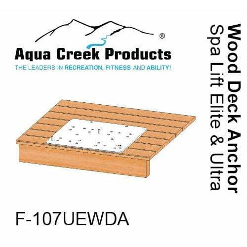 Aqua Creek Wood Deck Application Pool Lift Anchor for Spa Elite/Ultra Lift F-107UEWDA