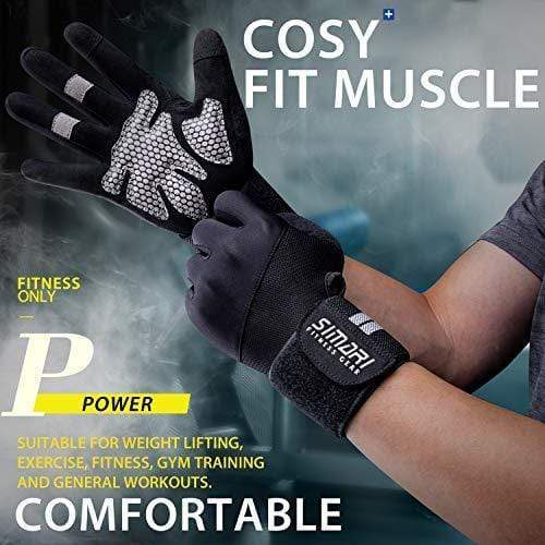 Breathable Microfiber & Spandex Workout Gloves