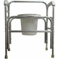 "Convaquip 24"" Height Adjustable Fixed Arms Tall Bariatric Bedside Commode 724T"