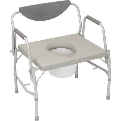 "Convaquip 26"" Height Adjustable Drop Arm  Medical Bedside Commode DR11135"