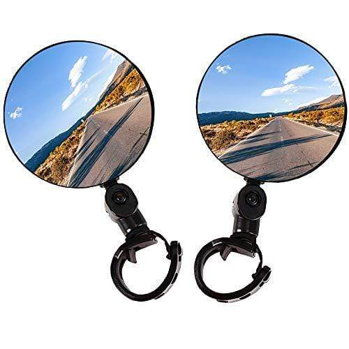 FUEHVTY Bike Mirror, 2pcs Bike Rear View Mirrors with Wide Angle Convex Mirror, Adjustable Rotatable Handlebar for Mountain Bike, Off-Road Bike and Fixed Gear Bike Handlebars