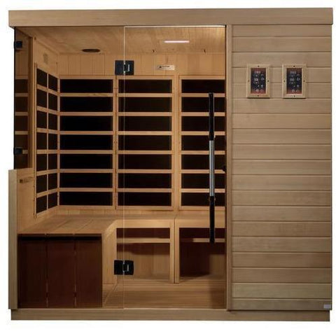 Golden Designs Dynamic La Sagrada Ultra Low EMF FAR Infrared 6-Person Sauna DYN-5860-01
