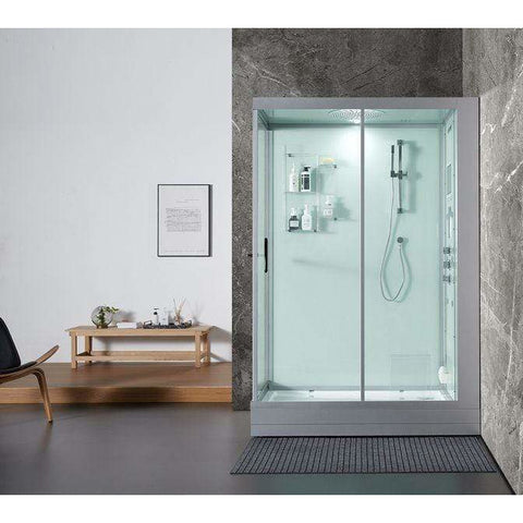 Maya Bath Anzio Platinum Freestanding Steam Showers