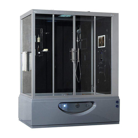 Maya Bath Catania Platinum 2-Person Freestanding Steam Shower 105