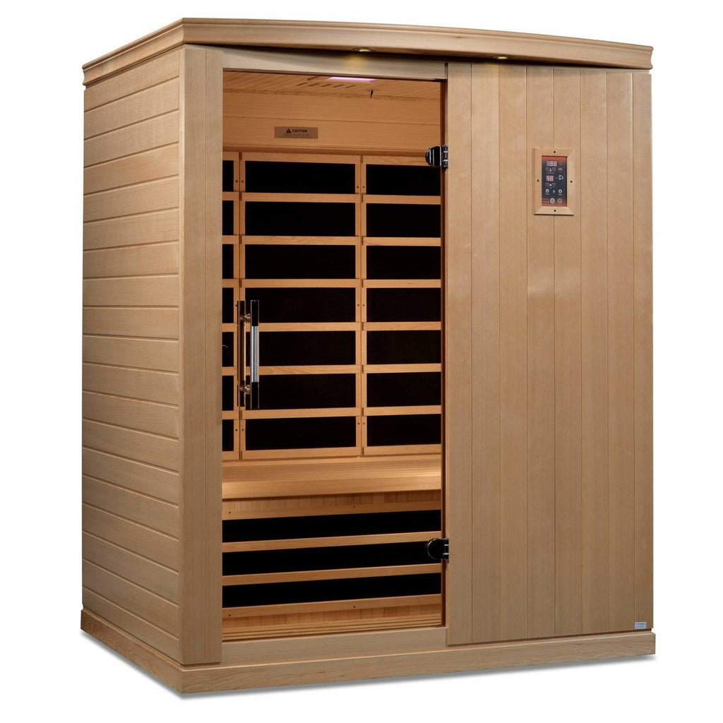 Maya Bath Madrid Elite Ultra Low EMF FAR Infrared 3-Person Saunas DYN-6310-03