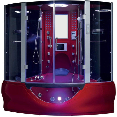 Maya Bath Valencia Red 2-Person Freestanding Steam Shower 109