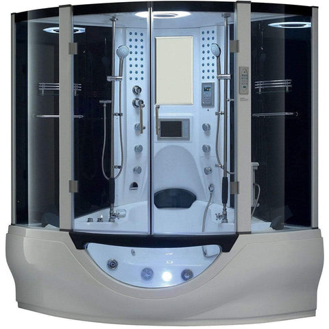 Maya Bath Valencia White 2-Person Freestanding Steam Shower 106