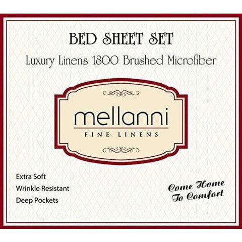 Mellanni Bed Sheet Set - Brushed Microfiber 1800 Bedding - Wrinkle, Fade, Stain Resistant - 3 Piece (Twin, White)