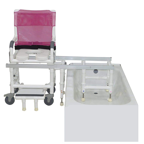 MJM International Dual Shower Chair D118-5-Slide