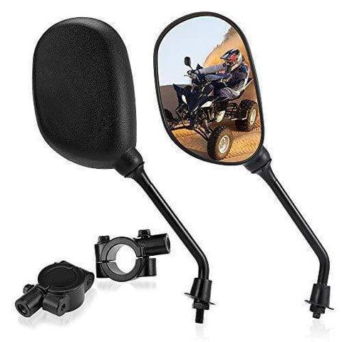 "Set of ATV Rear View Mirror, ISSYAUTO 360 Degrees Ball-Type Side Rearview Mirror with 7/8"" Handlebar Mount Compatible with Motocycle Scooter Moped Polaris Sportsman Honda ATV Dirt Bike Cruiser Chopper"