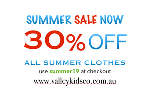 30% off summer clothes sale - boys, girls, baby onesie dress Playsuit tops tees shorts skirts pants