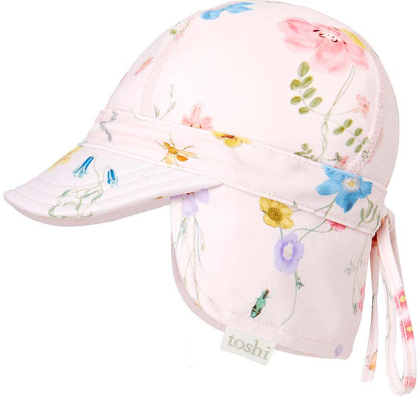 Toshi Swim Flap Cap Floral Mermaid
