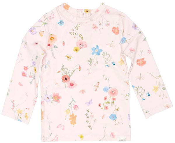 Toshi Swim Long Sleeve Rashie Floral Mermaid