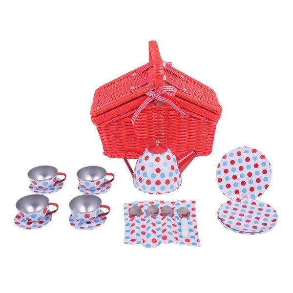 Time Tea Set and Basket - picnic - tea party