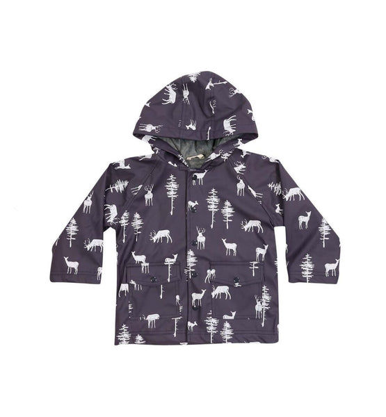 Korango Raincoat Little Stag Charcoal