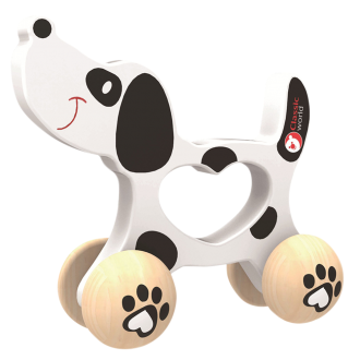 Wooden Doggy Push Toy