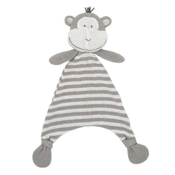 Max the monkey knitted security blanket