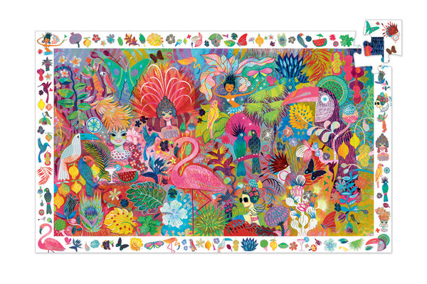 200pc Rio Carnival Observation Puzzle and Poster