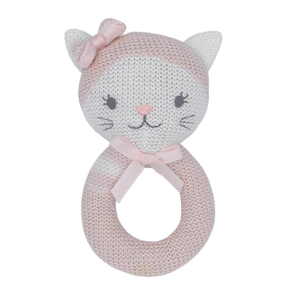 Daisy The Cat Knitted Rattle