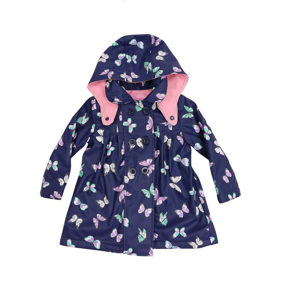 Korango Raincoat Butterfly Navy