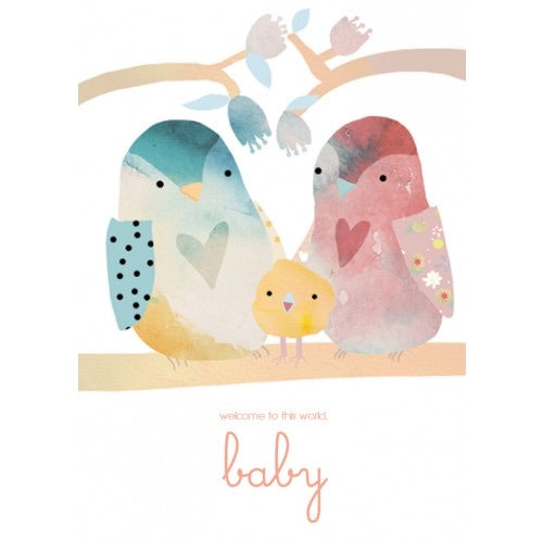 Welcome To This World Baby with birds