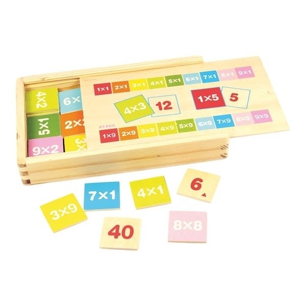 Times Table Wooden Tiles in box