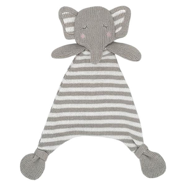 Eli the Elephant Knitted Security Blanket