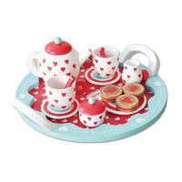 Hearts Tea Set Wooden