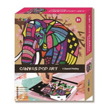 Canvas Pop Art Elephant