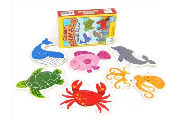 Ocean Animals Shaped Puzzle