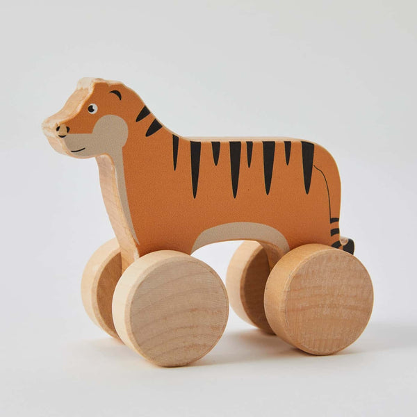 Wooden Rolling Tiger