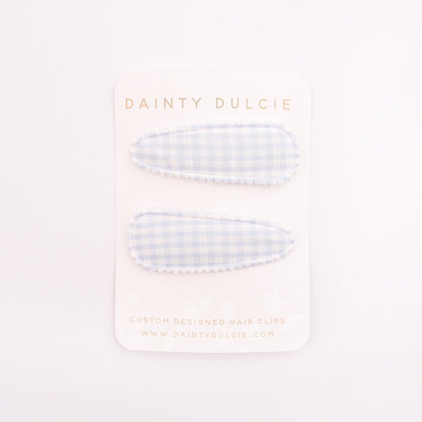 Dainty Dulcie Hair Clips Grace Gingham