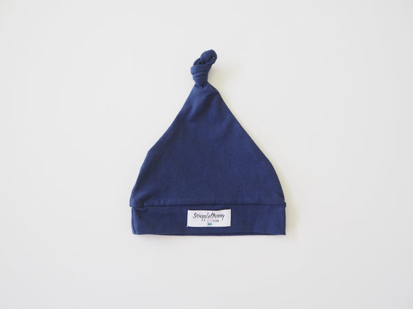 Snuggle Hunny Knotted Beanie Navy