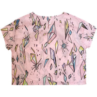 Kip & Co Diamond Rainbow Cosmos Short Sleeve Blouse Tee