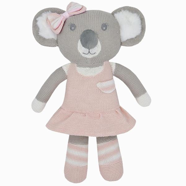 Chloe the Koala Knitted Rattle