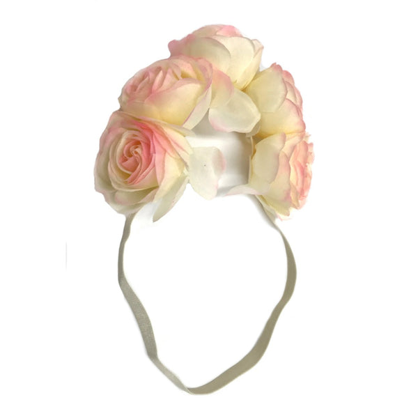 Rose Flower Garland Pink/White
