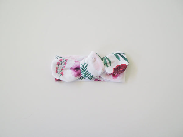 Snuggle Hunny Top Knot Headband Peony Bloom