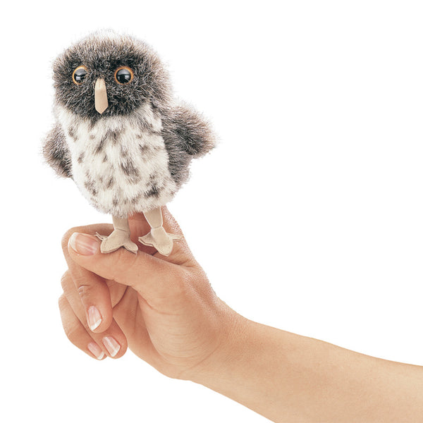 Finger Puppets Mini Spot Grey Owl