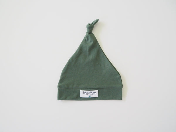 Snuggle Hunny Knotted Beanie Olive