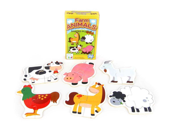 Farm Animals Shaped Puzzle