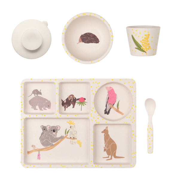 Love Mae divided plate set Australiana