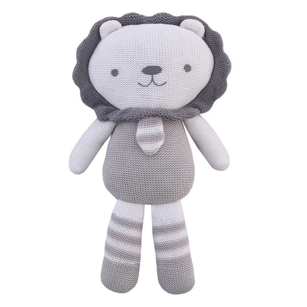 Austin the Lion Knitted Soft Toy with Rattle