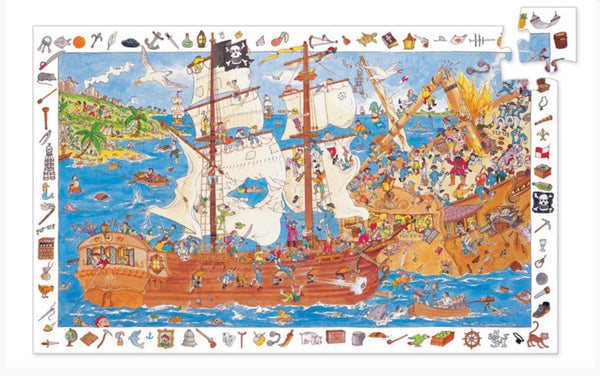 100pc Pirates Observation Puzzle and Poster