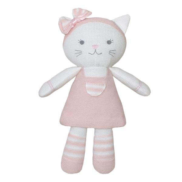 Daisy the Cat Knitted Toy with rattle