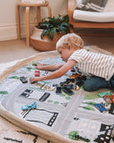 Play Pouch Double Sided Play Mat and Toy Bag