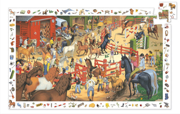 200pc Equestrian Observation Puzzle and Poster