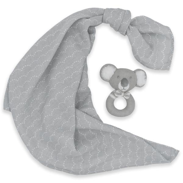 Muslin Swaddle and Rattle Kevin Koala